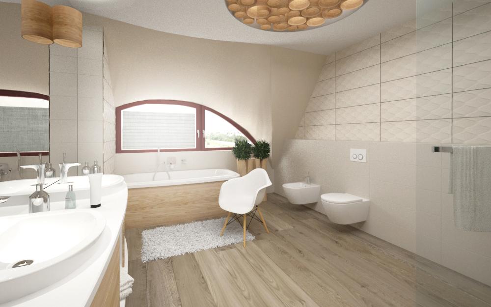łazienka z ciepłym drewnem (1)