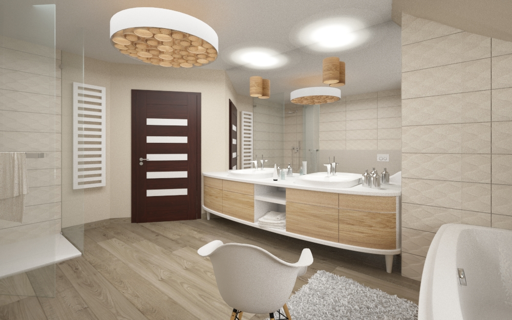 łazienka z ciepłym drewnem (3)