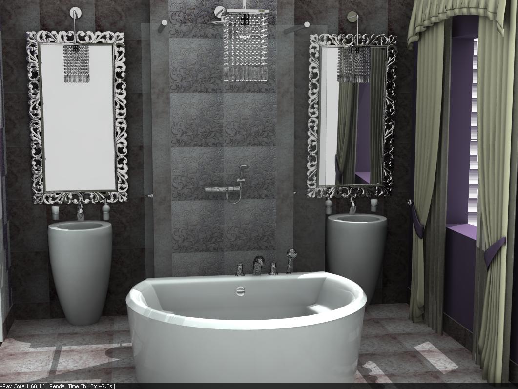 łazienka z umywalkami monolitycznymi (2)