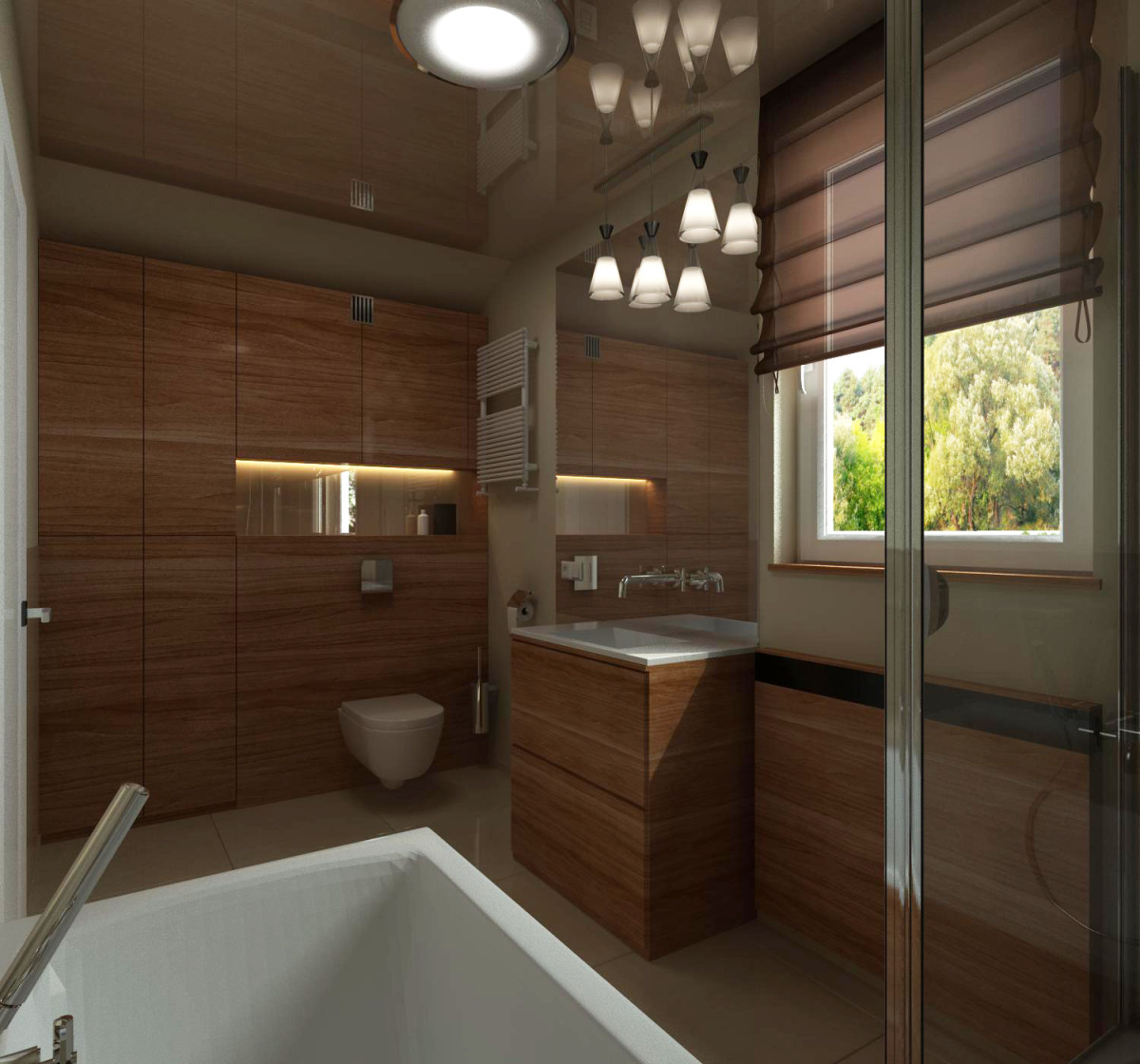 łazienka ze szkłem na ścianie (7)