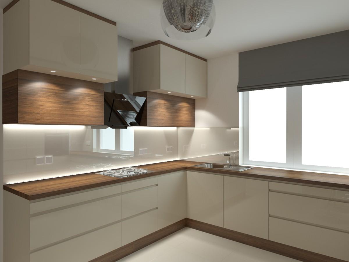 kuchnia z barkiem i winiarką (3)  Bitronao Design Studio