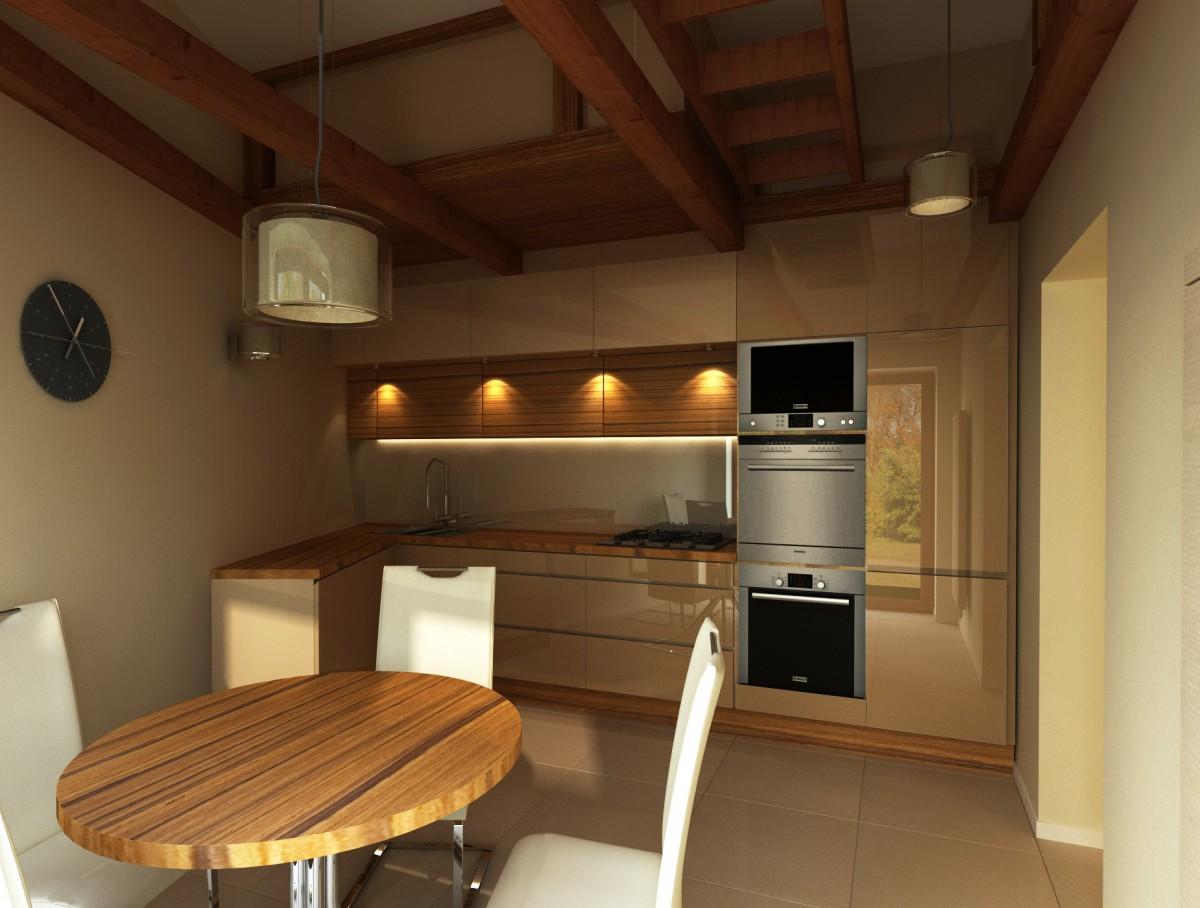 kuchnia z belkami i drabiną (3)