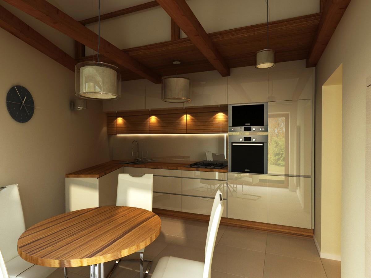 kuchnia z belkami i drabiną (5)