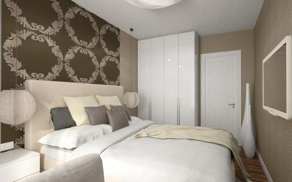 Mała Sypialnia W Mieszkaniu 14 Bitronao Design Studio