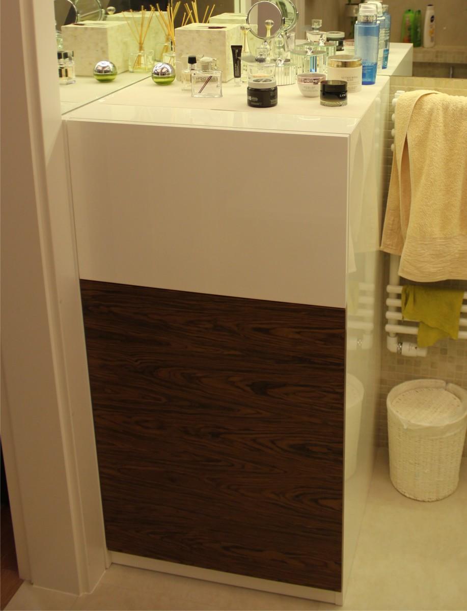 meble łazienkowe fornir z białym lakierem5