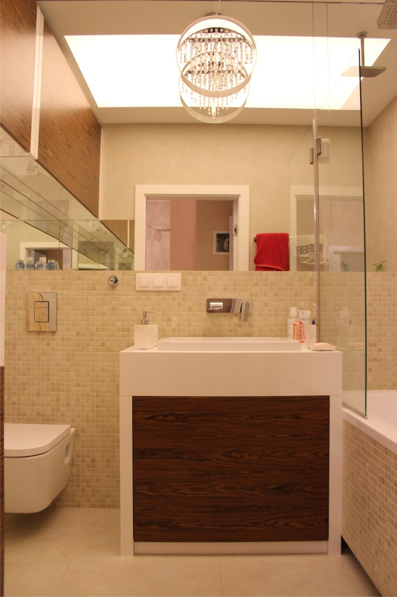 meble łazienkowe fornir z białym lakierem8